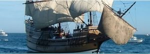 Replica of the Mayflower