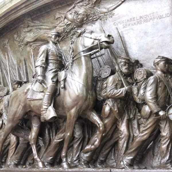 Statue of 54th Massachusetts Robert Shaw